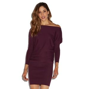 NWT JustFab Off The Shoulder Sweater Dress